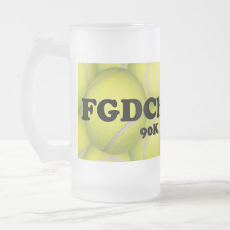 FGDCh 90 K, Flyball Grand Champ, 90,000 Points Frosted Glass Beer Mug
