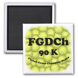 FGDCh 90 K, Flyball Grand Champ, 90,000 Points Square Magnet
