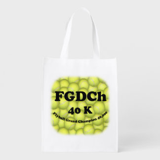 FGDCh, Flyball Grand Champ, 40,000 Points Reusable Grocery Bag