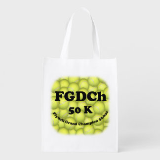 FGDCh, Flyball Grand Champ, 50,000 Points Reusable Grocery Bag