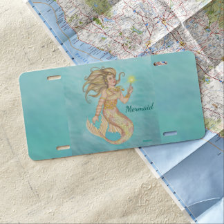 Fia Mermaid Sea Queen Fantasy License Plate