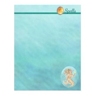 Fia Mermaid Sea Queen Fantasy Spell Page