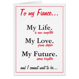 Fiance birthday card. love. wife card