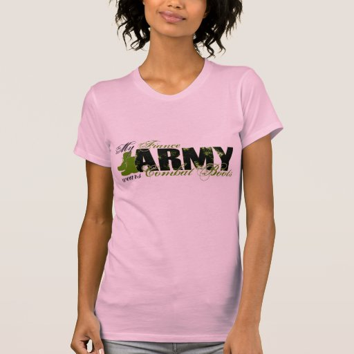 Fiance Combat Boots - ARMY T Shirt