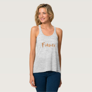 Fiance, engaged rose gold copper getting married tank top