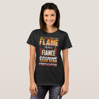 Fiance Firefighter American Flag T-Shirt