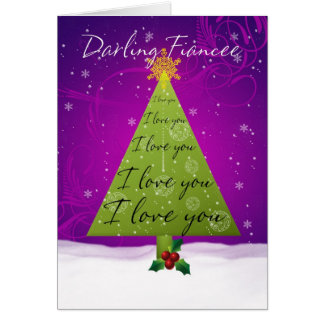 Fiancee Christmas Card With Holiday Tree