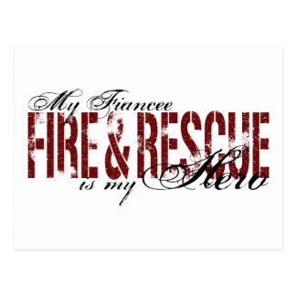 Fiancee Hero - Fire & Rescue Postcard