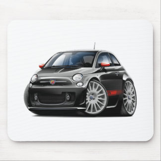 Fiat 500 Abarth Black Car Mouse Pad
