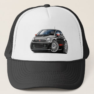 Fiat 500 Abarth Black Car Trucker Hat