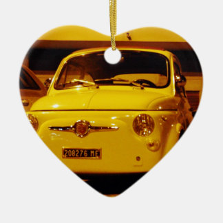 Fiat 500 Abarth. Ceramic Ornament