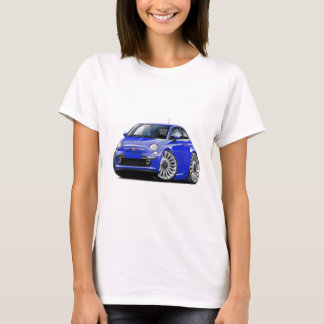 Fiat 500 Blue Car T-Shirt