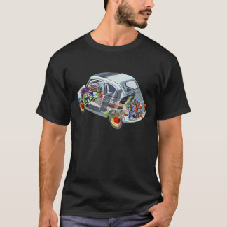 Fiat 500 Car Classic Vintage Hiking Duck T-Shirt