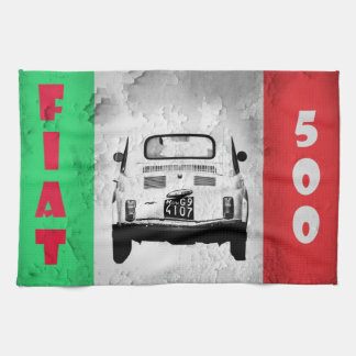 Fiat 500 Cinquecento towel, Rome, Italy Kitchen Towel