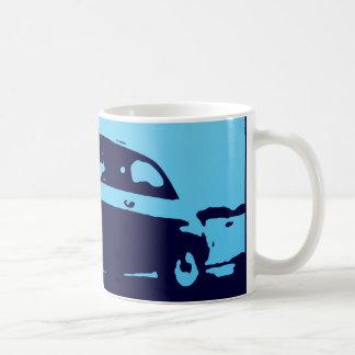 Fiat 500 classic - Lt blue on dark bkgd mug