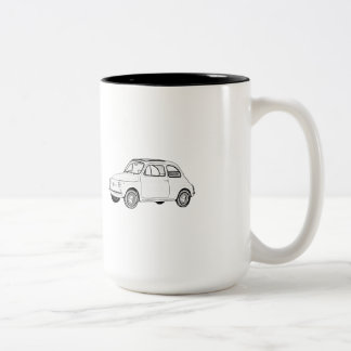 Fiat 500 Topolino Two-Tone Coffee Mug