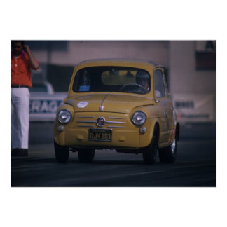 Fiat 600 - Little Giant Killer - Vintage Drag Poster