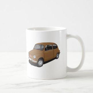 Fiat 600 mug brown