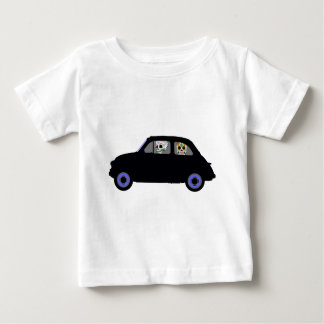 Fiat With 2 Sugar Skulls Watching You Baby T-Shirt