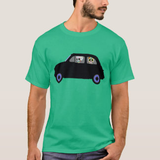 Fiat With 2 Sugar Skulls Watching You T-Shirt