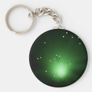 Fiber optic abstract. basic round button keychain
