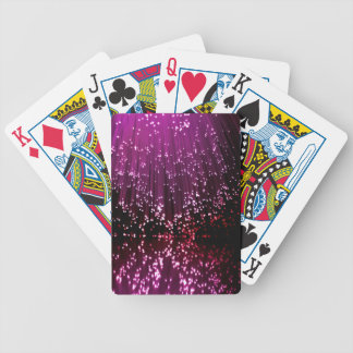 Fiber optic abstract. bicycle playing cards