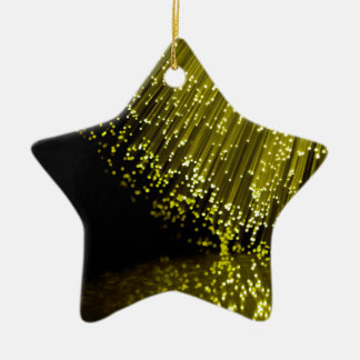 Fiber optic abstract. ceramic ornament