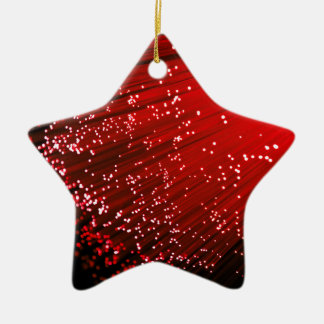 Fiber optic abstract. ceramic star ornament