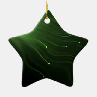 Fiber optic abstract. ceramic star ornament