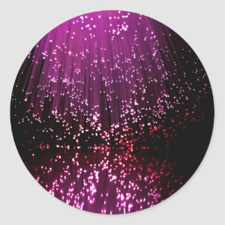 Fiber optic abstract. classic round sticker