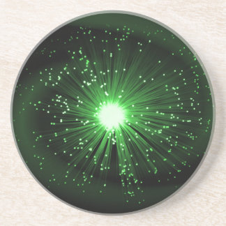 Fiber optic abstract. coaster