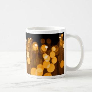 Fiber optic abstract. coffee mug
