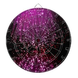 Fiber optic abstract. dartboard with darts