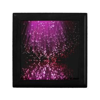 Fiber optic abstract. gift box