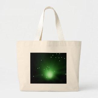 Fiber optic abstract. large tote bag