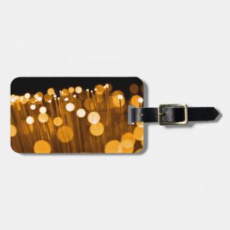 Fiber optic abstract. luggage tag