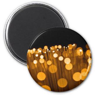 Fiber optic abstract. magnet