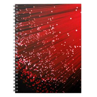 Fiber optic abstract. notebooks