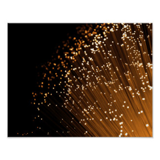 Fiber optic abstract. poster