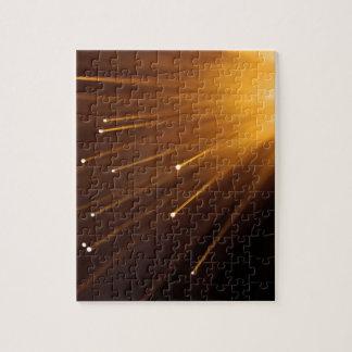 Fiber optic abstract. puzzles