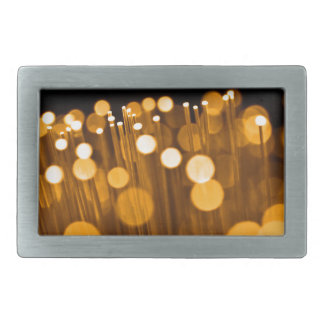 Fiber optic abstract. rectangular belt buckles