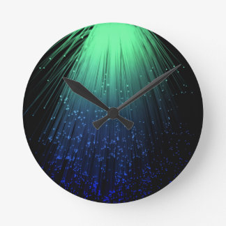Fiber optic abstract. round clock