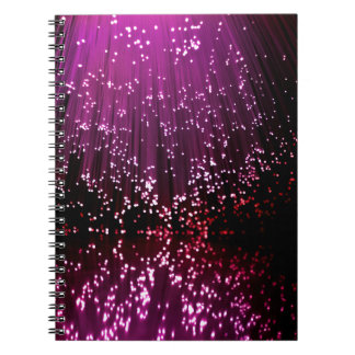 Fiber optic abstract. spiral notebook