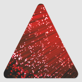 Fiber optic abstract. triangle sticker
