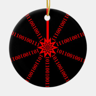 Fiber Optic Data Burst Ceramic Ornament
