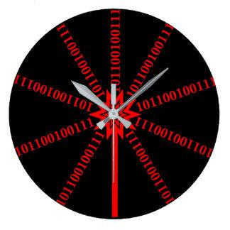 Fiber Optic Data Burst Large Clock