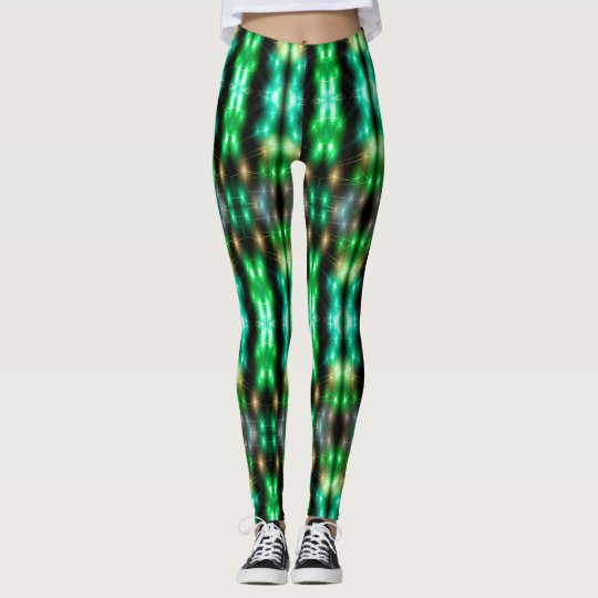 Fiber Optic (green) Leggings