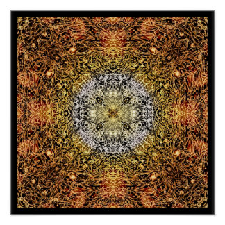 Fibers of Light Mandala Poster