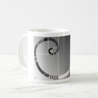 Fibonacci Day, 1,1,2,3, November 23 Coffee Mug