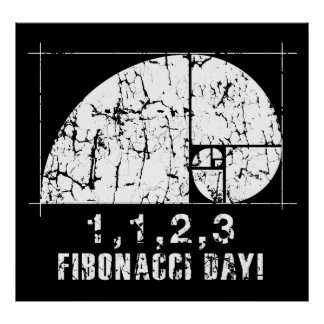 Fibonacci Day, 1,1,2,3, November, 23 Poster